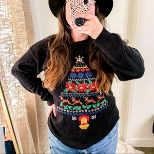 Northern Isles Knit Embroidered Christmas Sweater